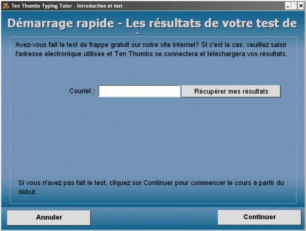 dactylo pour windows 7