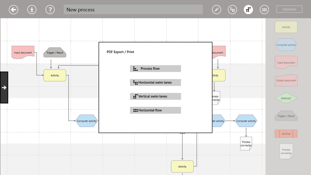 Sensus business-productivity Process Modeler app