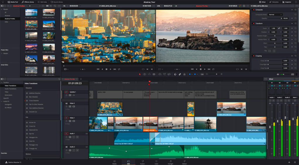 davinci video editing software free download