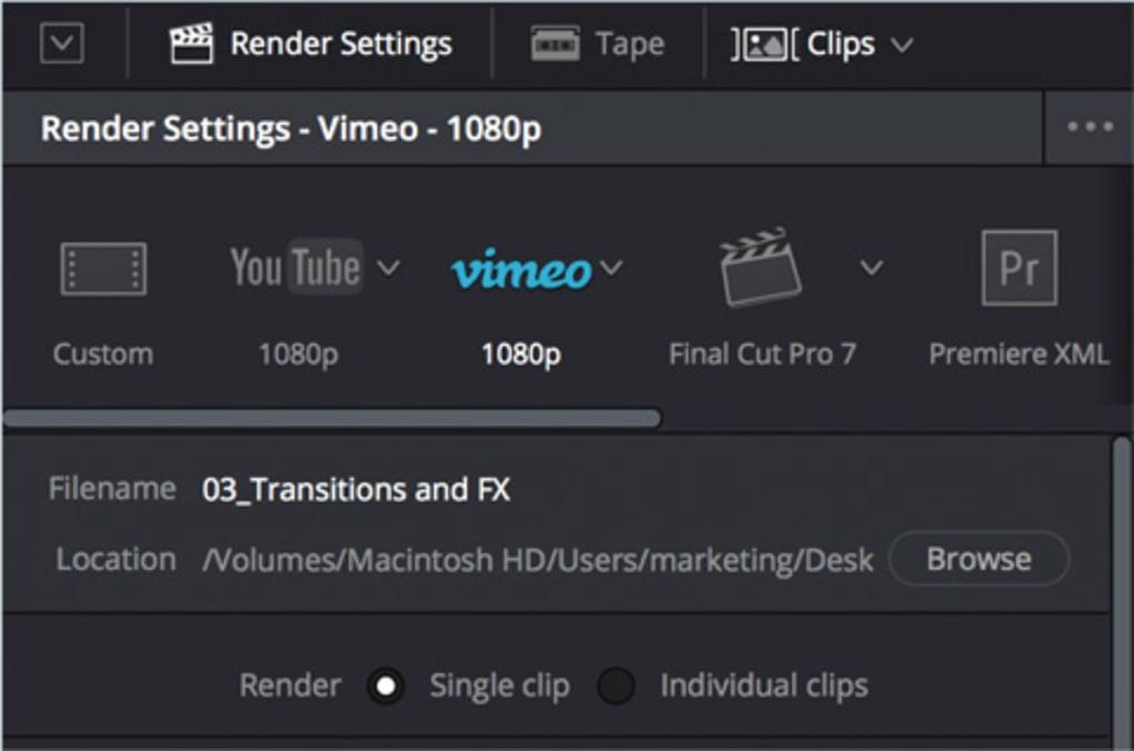 davinci video editor download mac