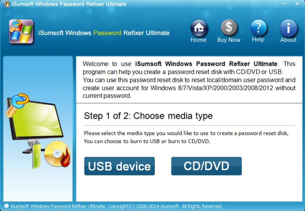 reset admin password windows 7 using usb