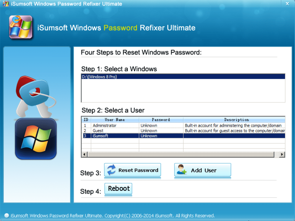 isumsoft windows password refixer full version
