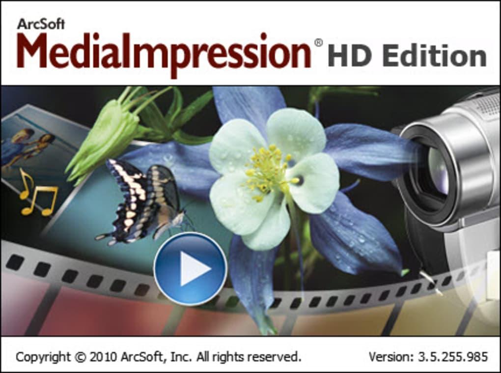 Arcsoft media impressions free download.