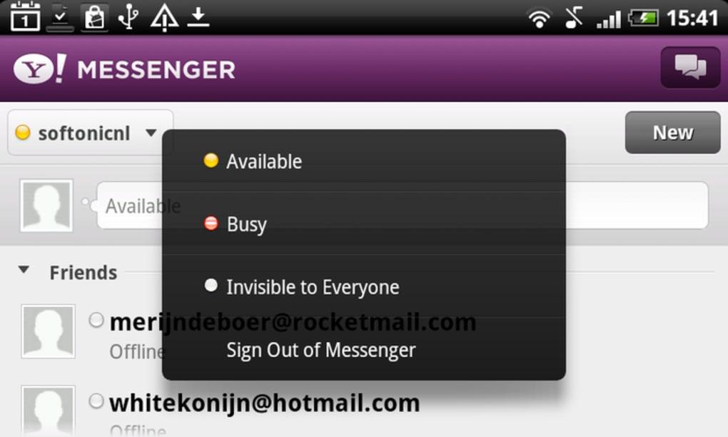 Yahoo's instant messenger app