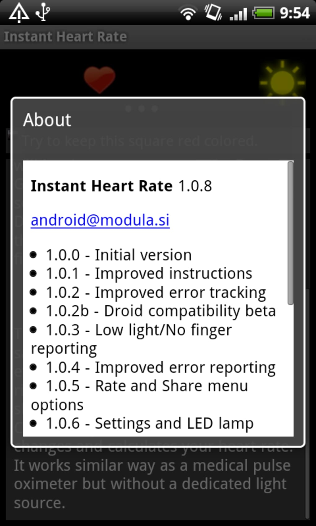 Instant Heart Rate for Android - Download