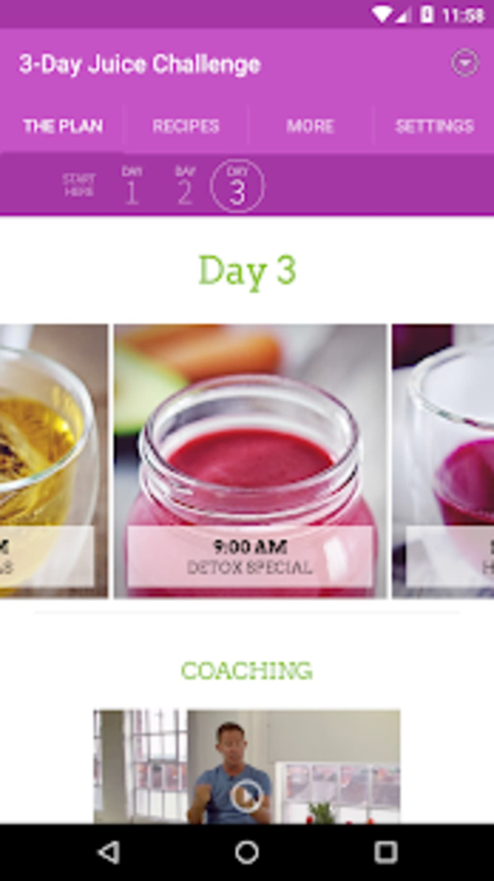 Jasons 3-Day Juice Challenge for Android - Download