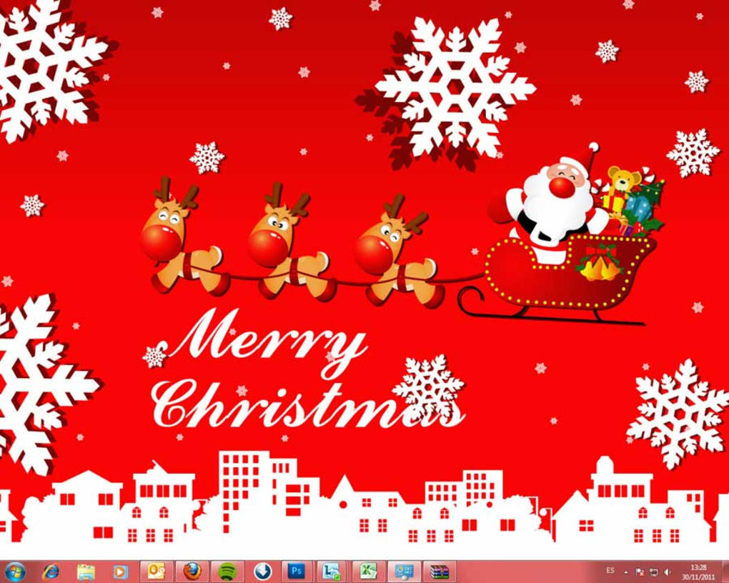 windows 7 christmas theme (windows) - download