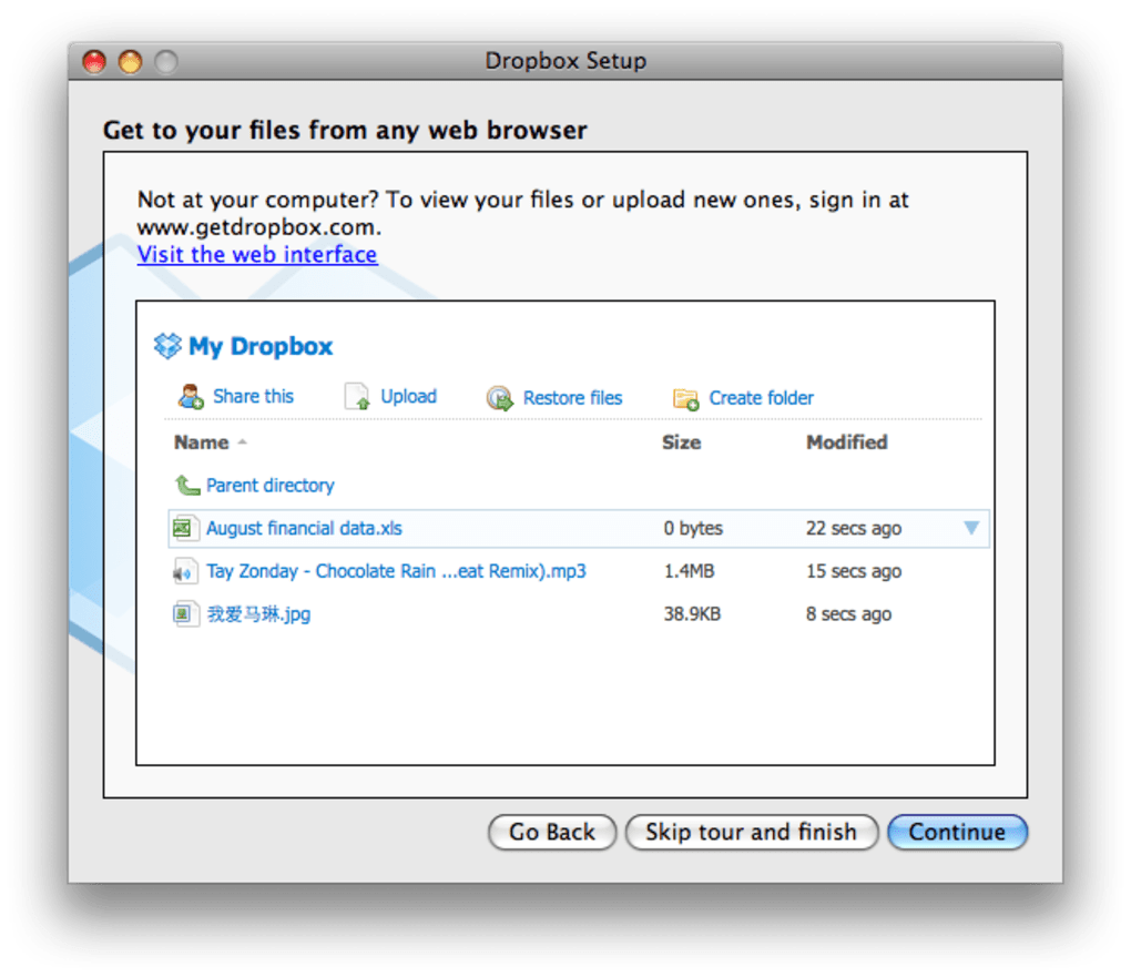 Dropbox for Mac - Download