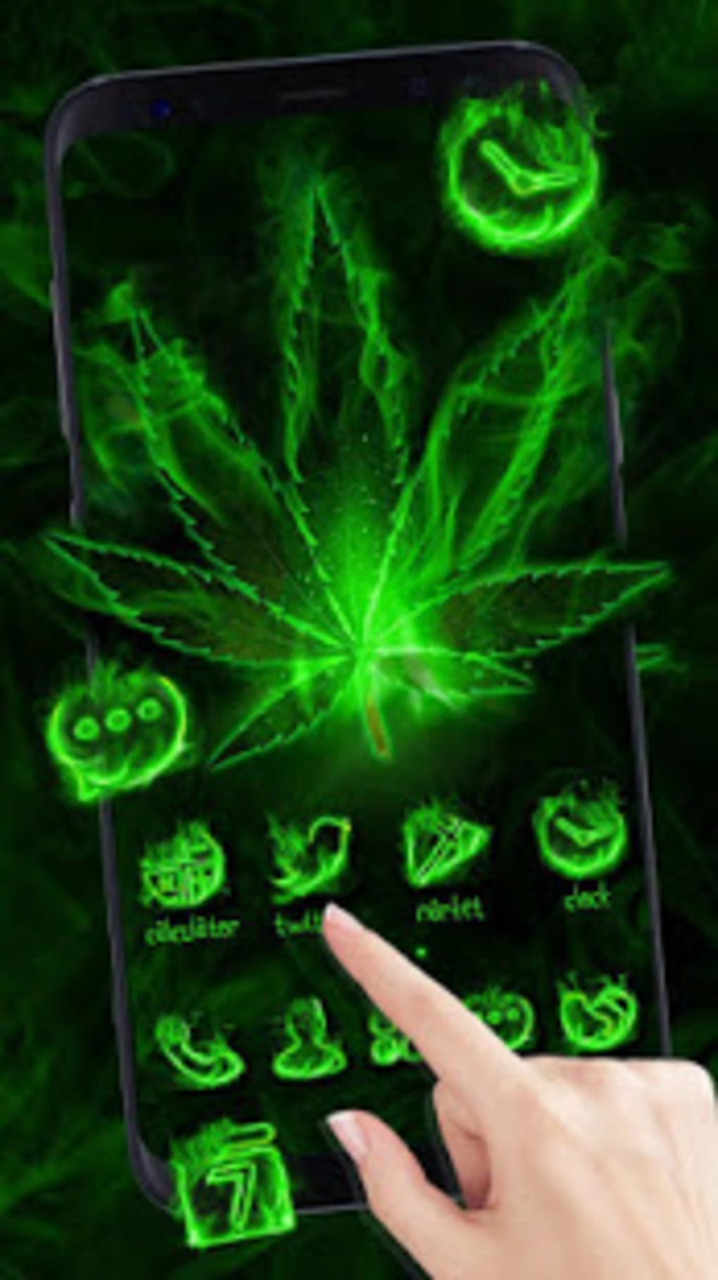 Fire Weed Rasta Themes HD Wallpapers 3D icons for Android