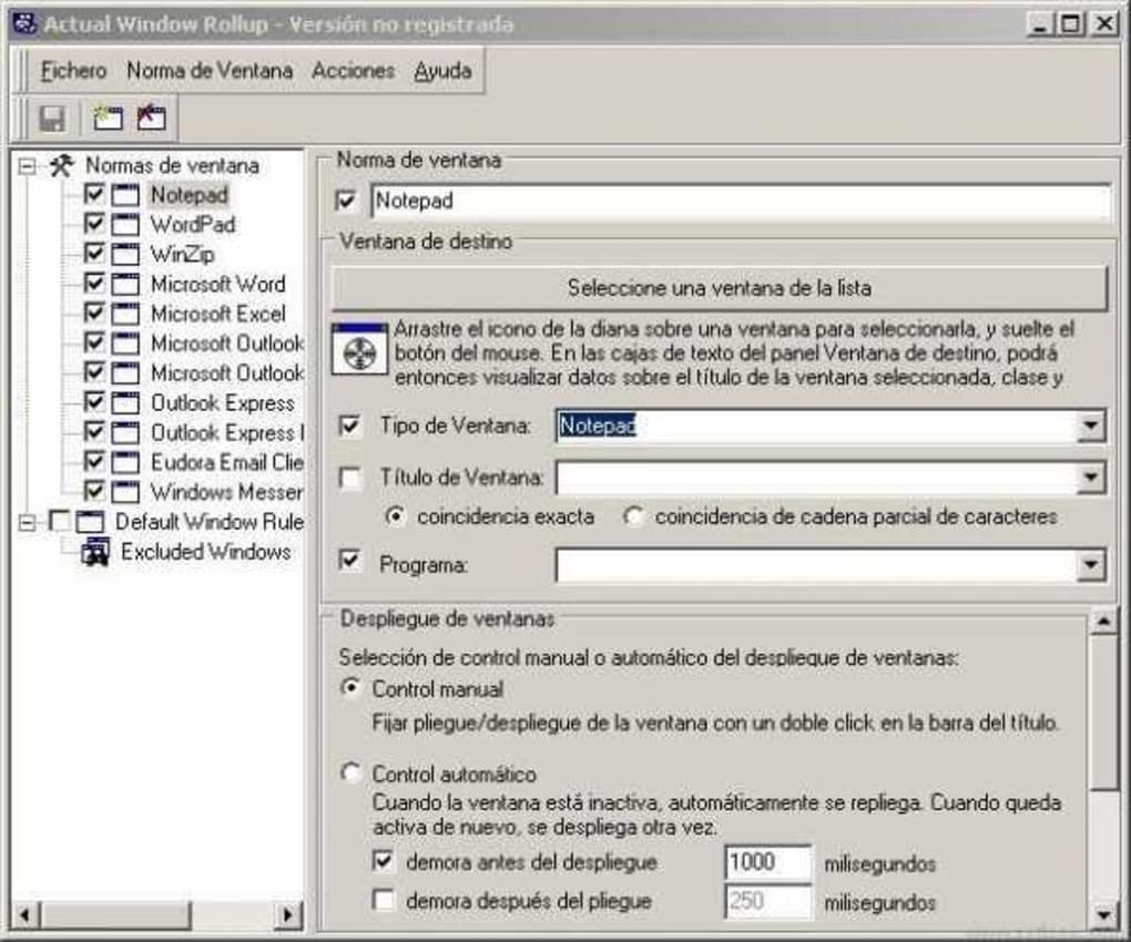 Actual Window Rollup - Download