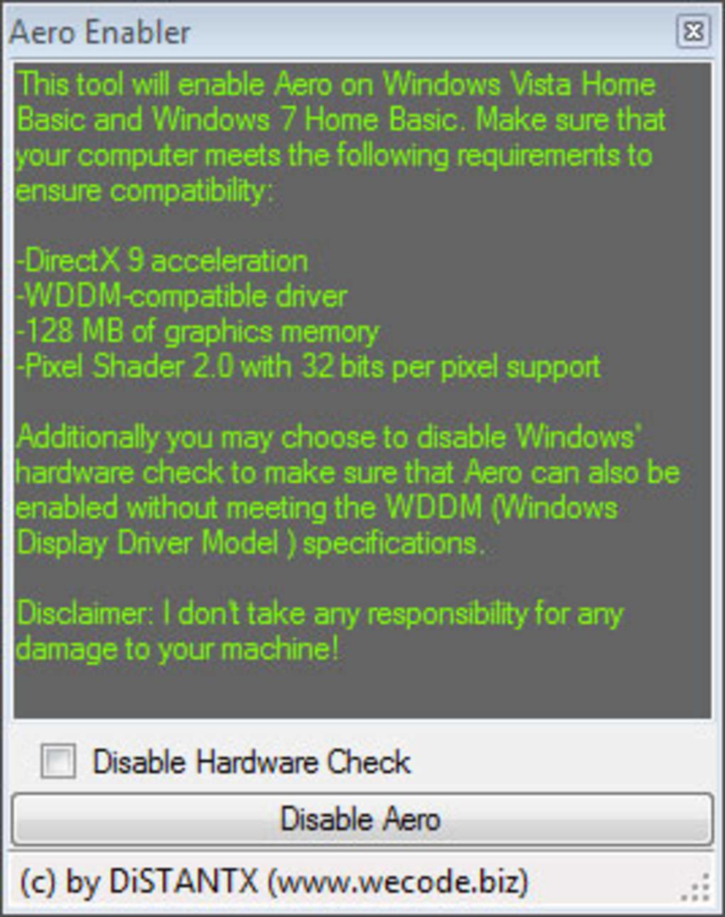 aero enabler para windows 7 starter gratis