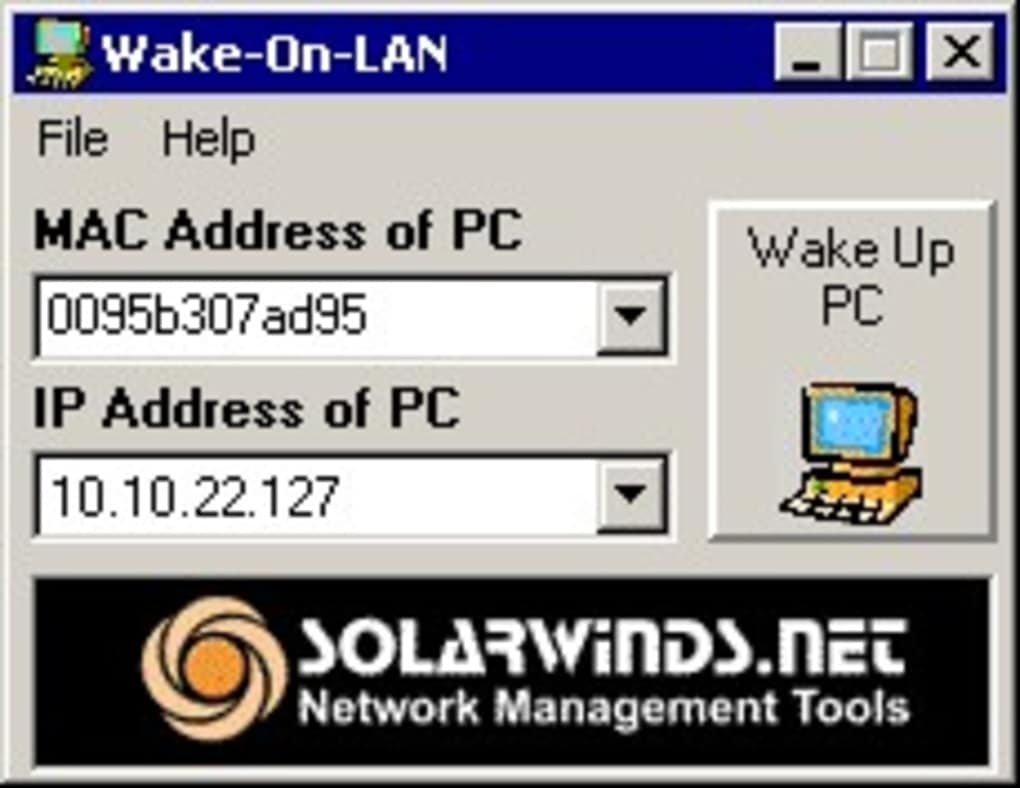SolarWinds Wake-On-LAN - Download