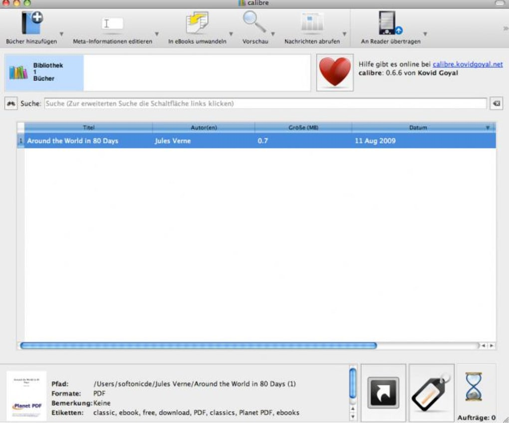 calibre mac 10.6.8