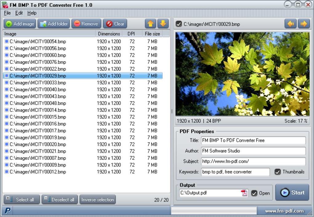 BMP To PDF Converter Free - Download