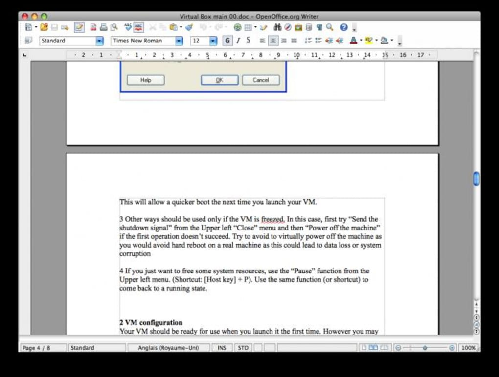 open office mac 10.3.9