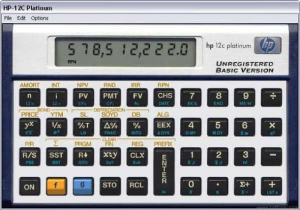 calculadora hp 12c gratis windows 7