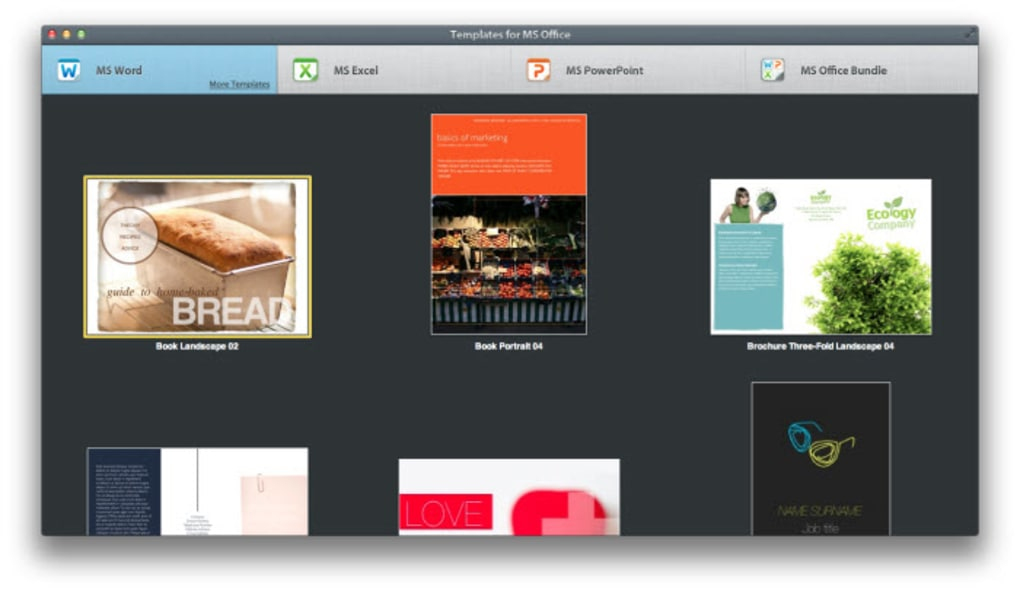 templates for ms office for mac download