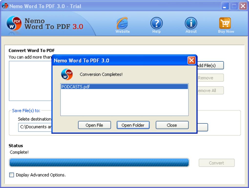 Nemo Word To PDF - Download