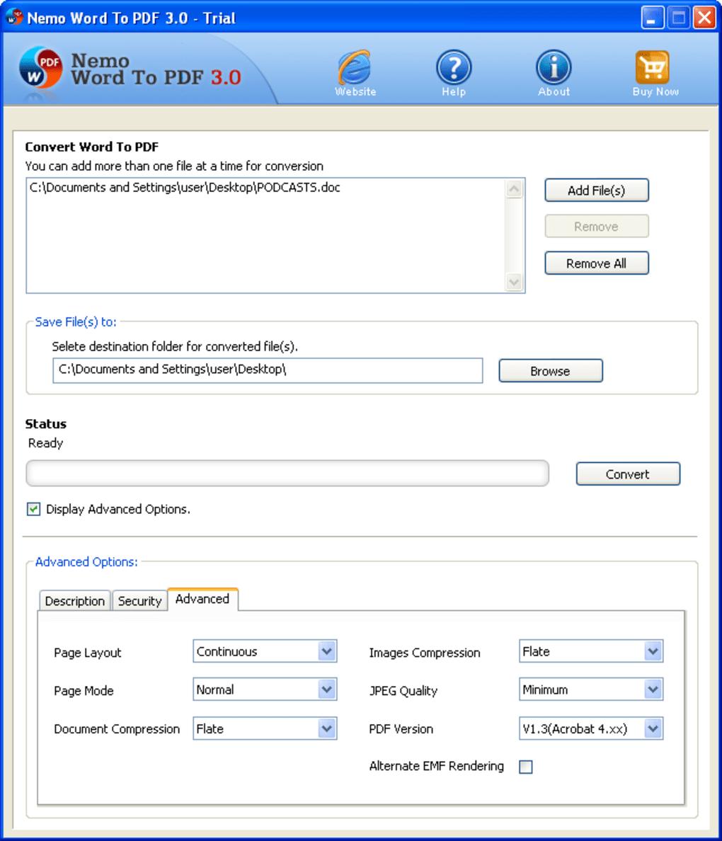 Nemo PDF Converter 5.0