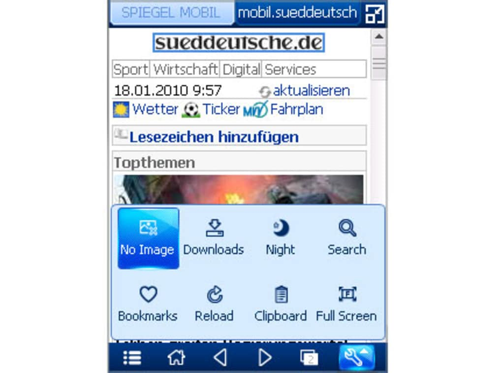 Complete mobile Web browsing experience