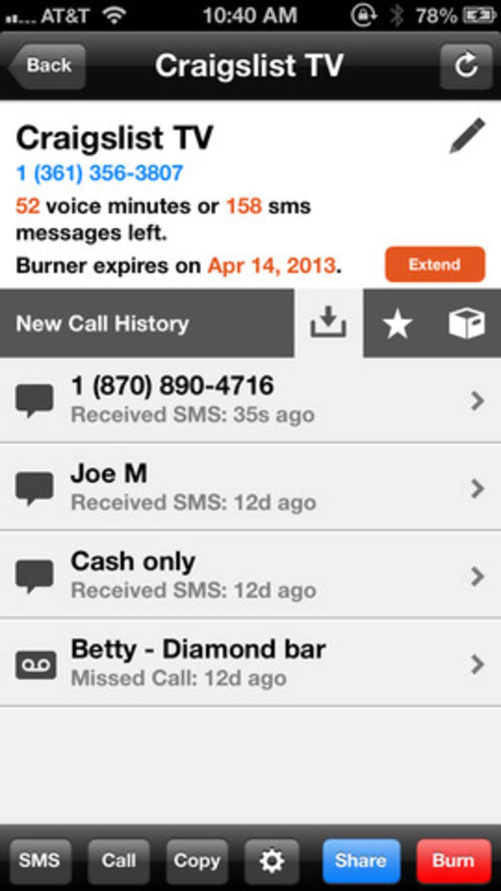 Burner - Disposable Phone Numbers for iPhone - Download