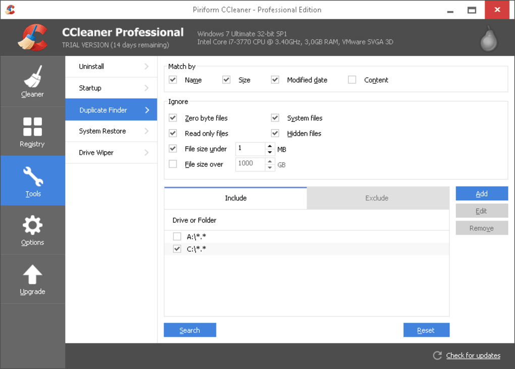 ccleaner professional trial