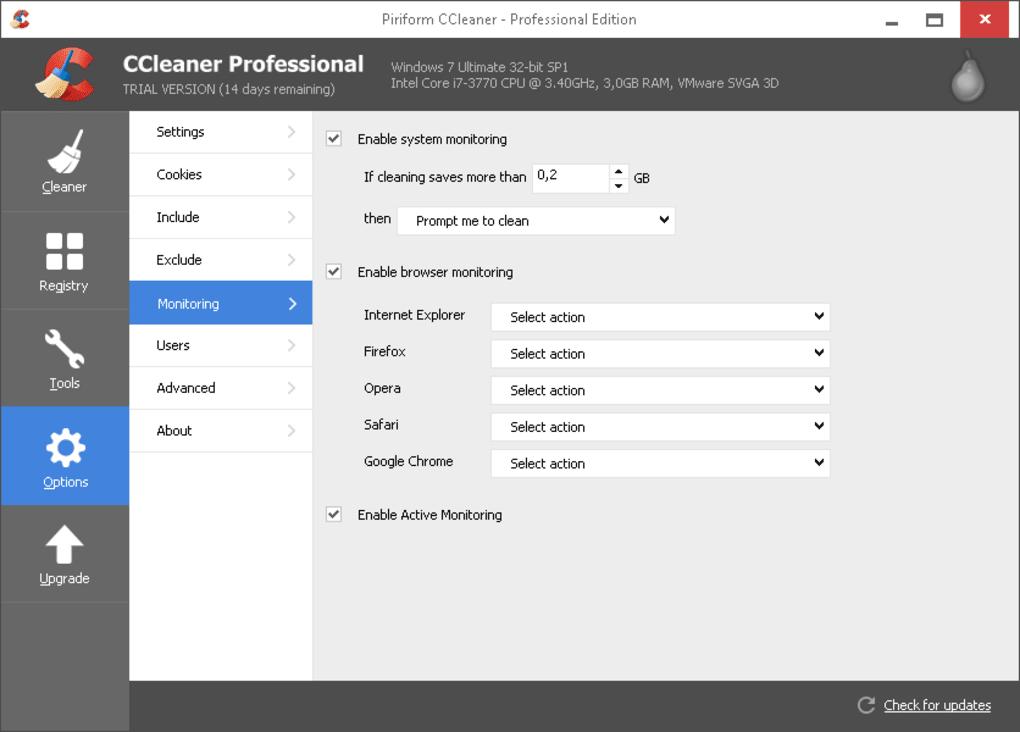 ccleaner professional gratis