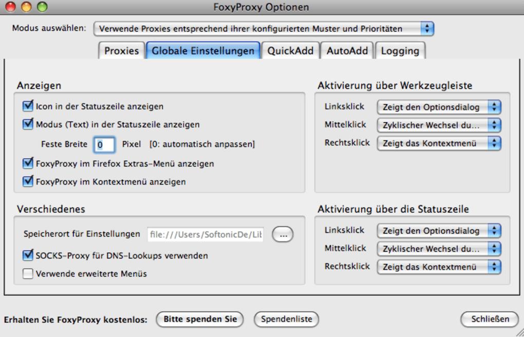 FoxyProxy für Mac - Download