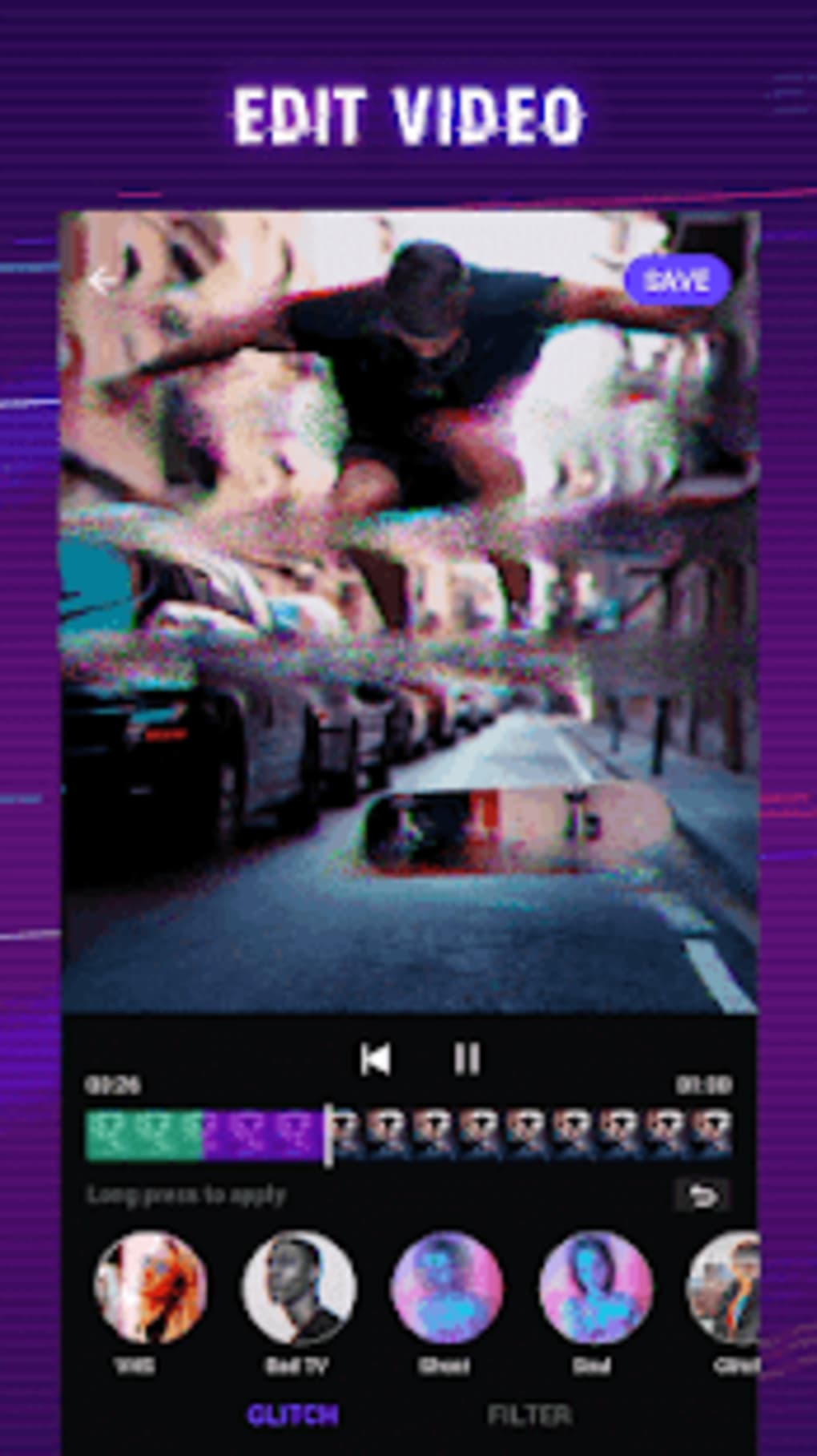 Glitch Video Effect - Video Editor Video Effects for Android