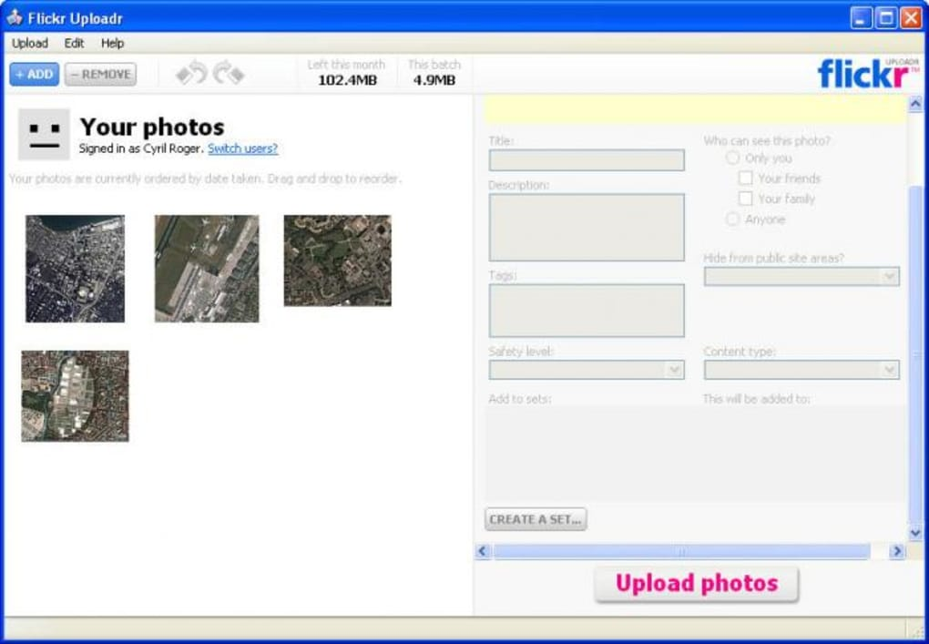 Flickr Uploadr - Download