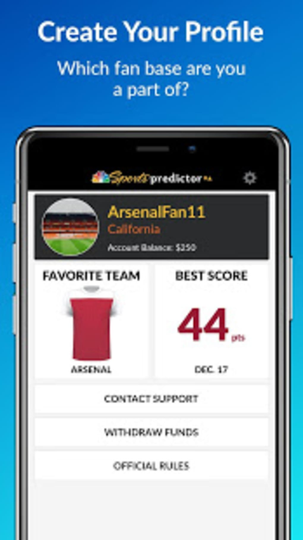 NBC Sports Predictor for Android - Download
