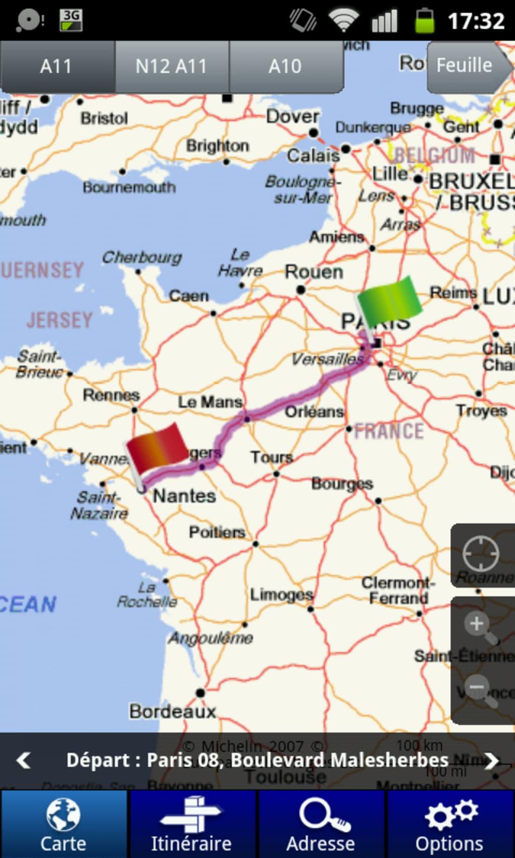 FRANCE TÉLÉCHARGER GPS CARTE VIAMICHELIN POUR