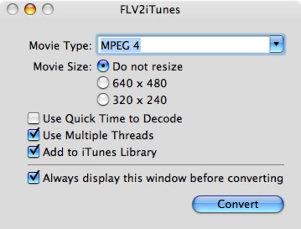 FLV2iTunes - Download