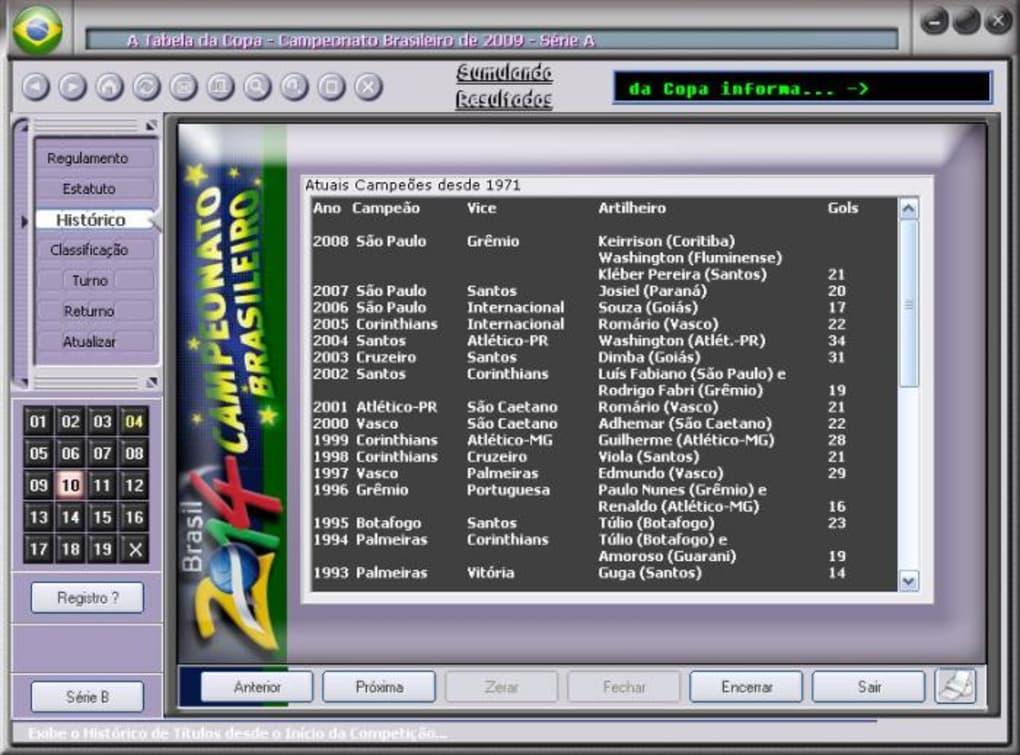 A Tabela Do Campeonato Brasileiro 2009 Download