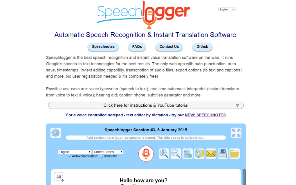 speechlogger gratuit