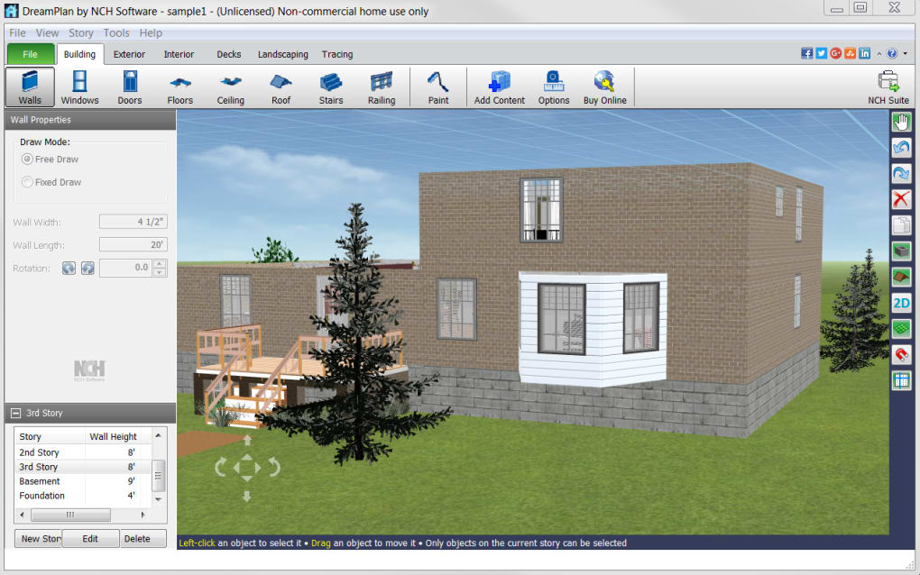 Landscape Design Software Free App: DreamPlan Home Design Software
