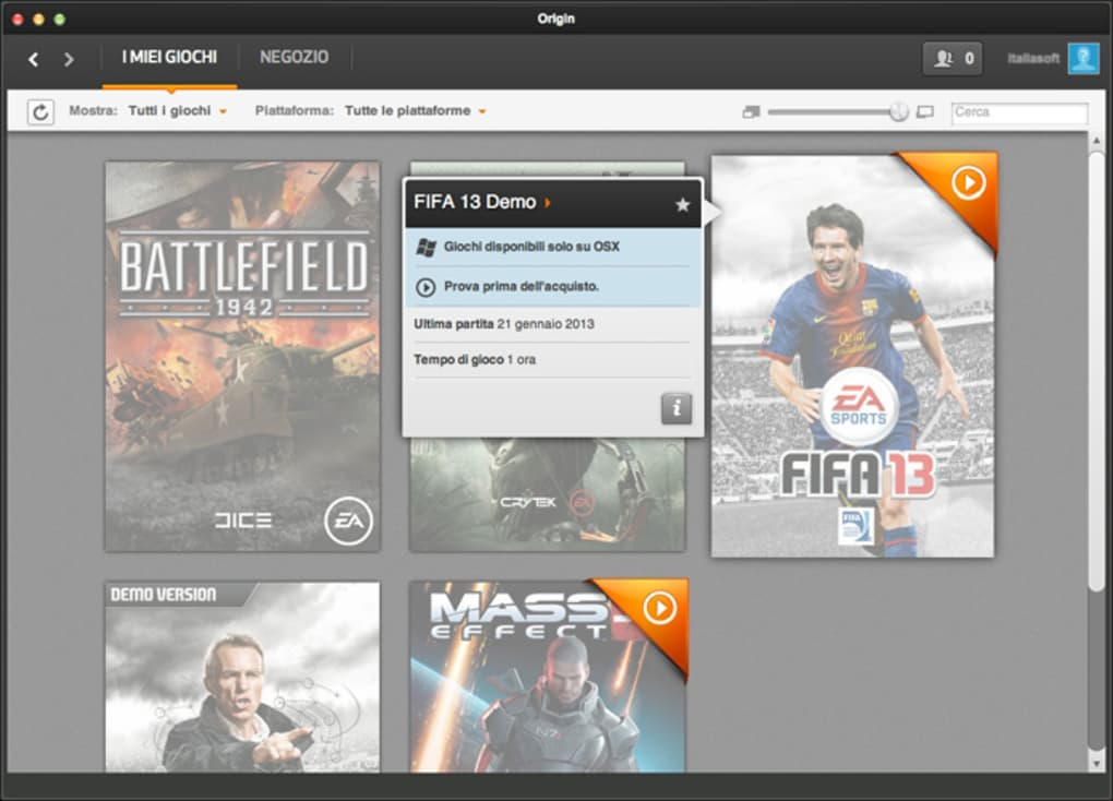 Origin per Mac - Download
