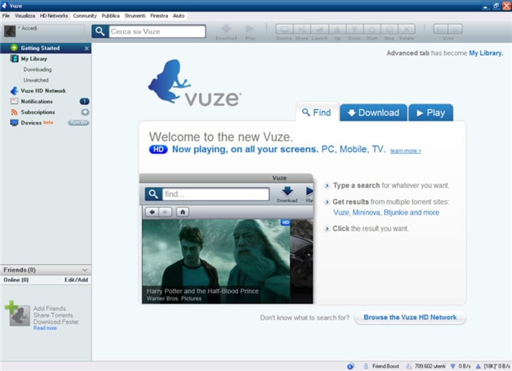 vuze in italiano per windows 7