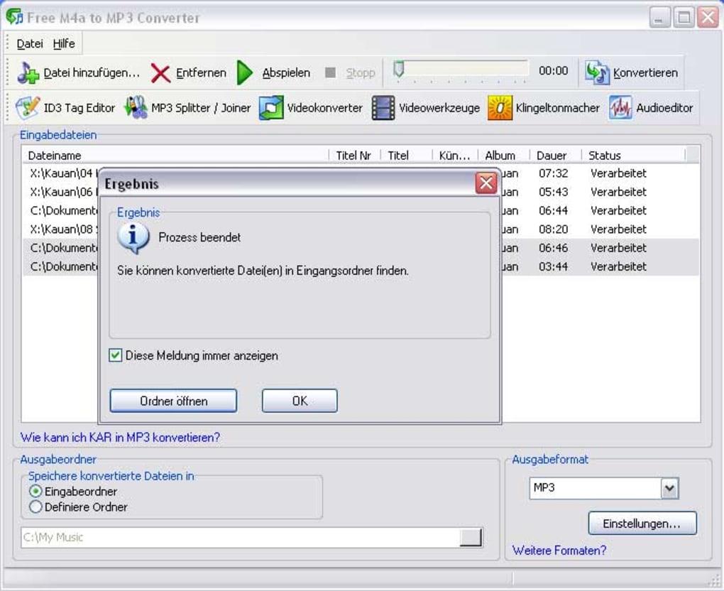 m4a datei in mp3 umwandeln mit windows media player