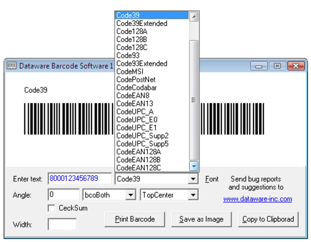 Barcode Software - Download