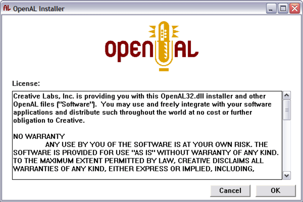OPENAL SOUND WINDOWS 8 X64 DRIVER DOWNLOAD