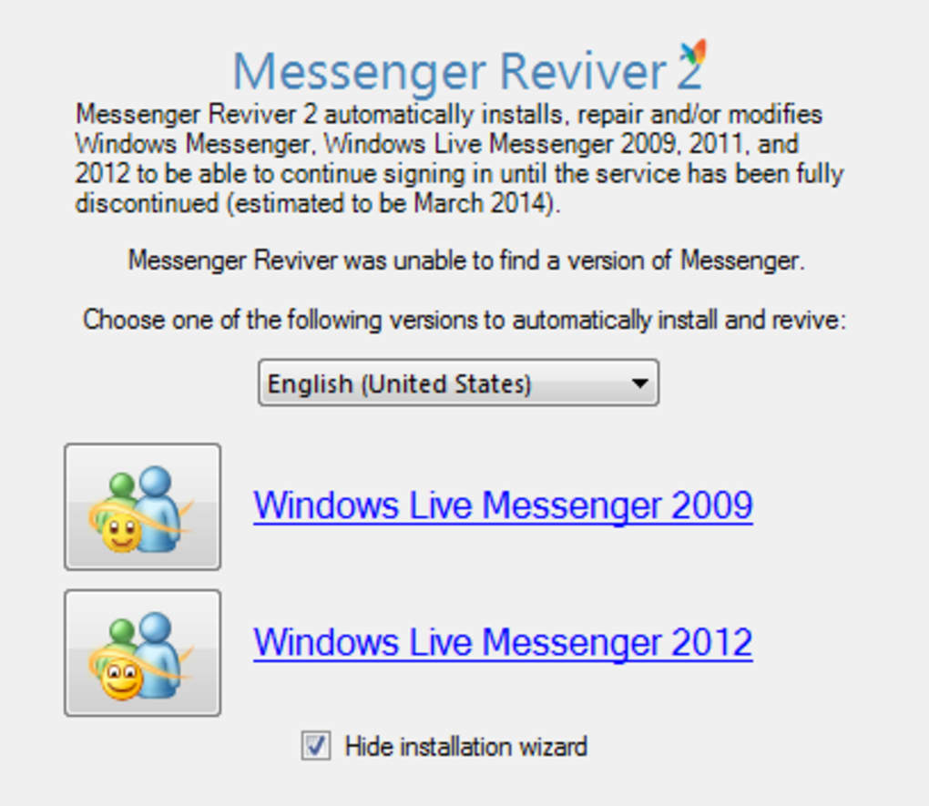 REVIVER TÉLÉCHARGER 2009 MESSENGER