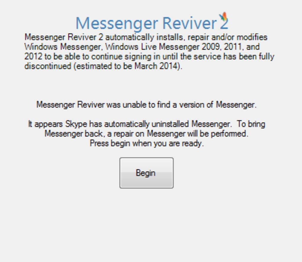 messenger reviver 2009