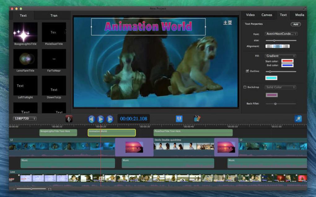 Movie Edit Pro - Merge Video Image Editor Lite for Mac