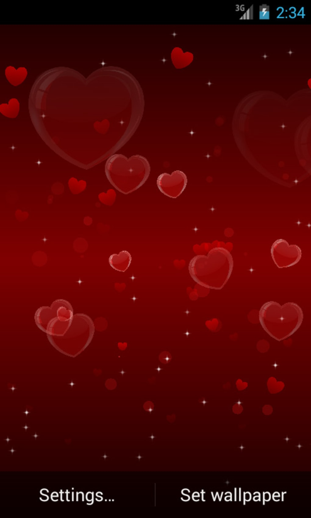 Delicate Hearts Free LWP