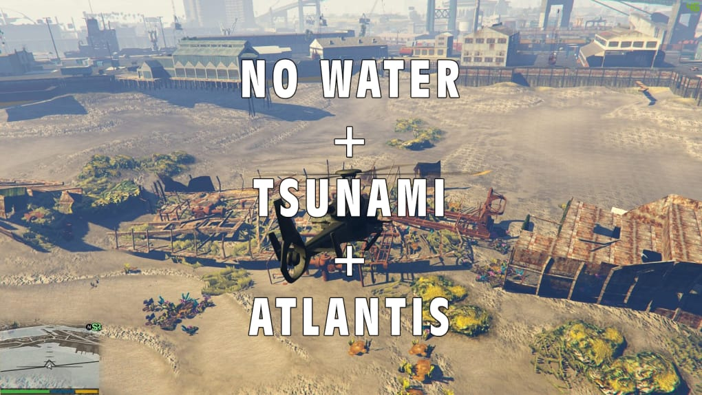 GTA 5 No Water + Tsunami + Atlantis Mod - Download