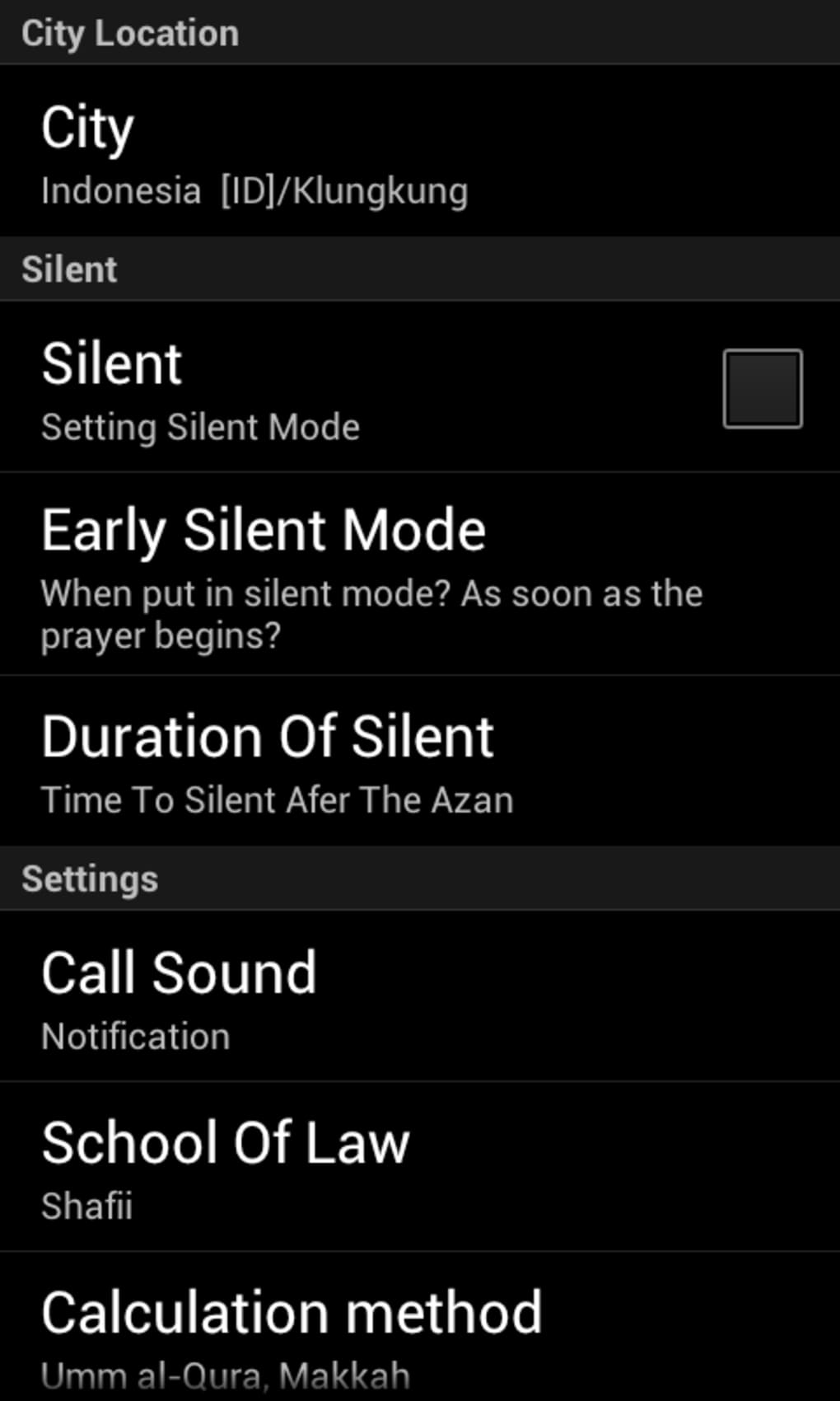 Salaat Timings Alarm for Android - Download