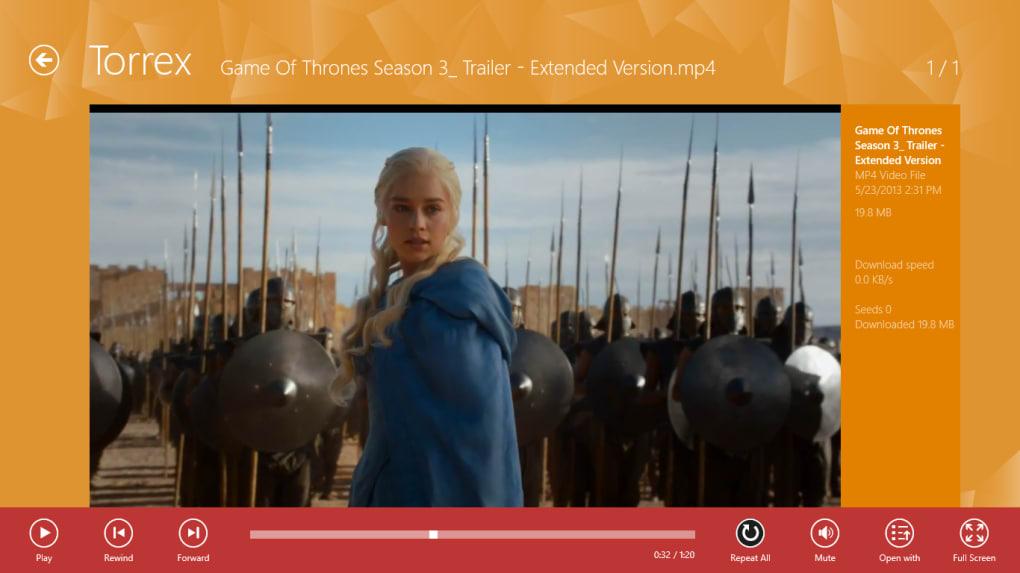 Torrex Lite Torrent Downloader for Windows 10 (Windows