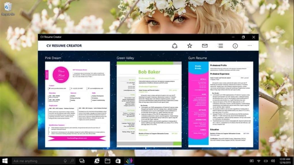 cv resume creator download