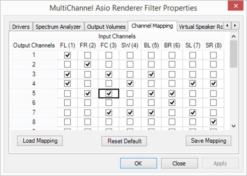 Multichannel ASIO DirectShow Renderer - Download